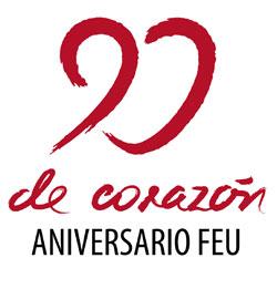 Logotipo 90 de Corazón, FEU