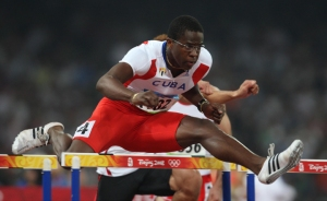 Foto Omega/Colombo. Olimpiadi Beijing 2008 Pechino Cina, 19-08-2008. Atletica 110m ostacoli maschile. nella foto: ROBLES Dayron